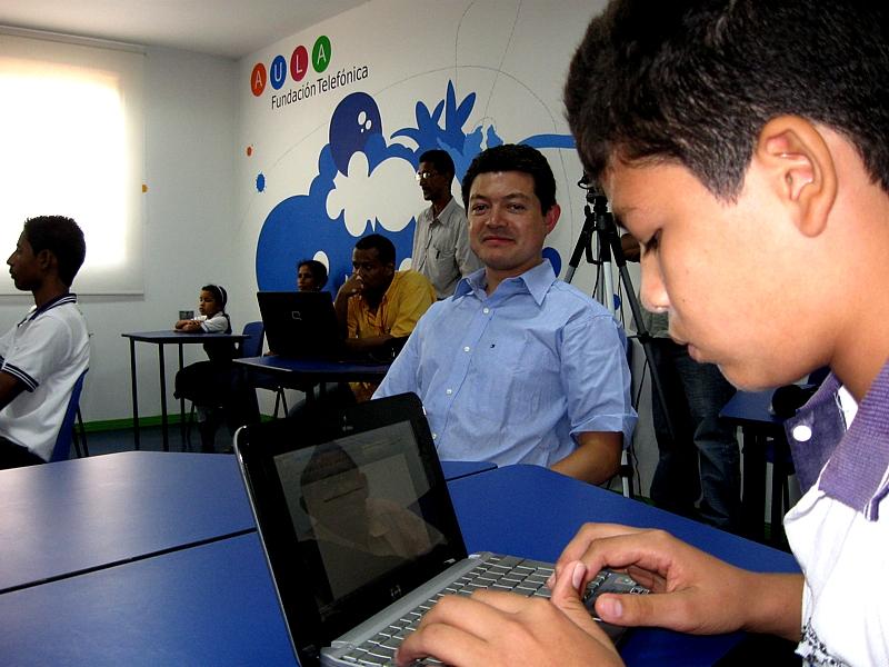 La infraestructura del Aula digital de Fundación Telefónica en Montería es el mejor ejemplo de de la vinculación de la tecnología y la educación