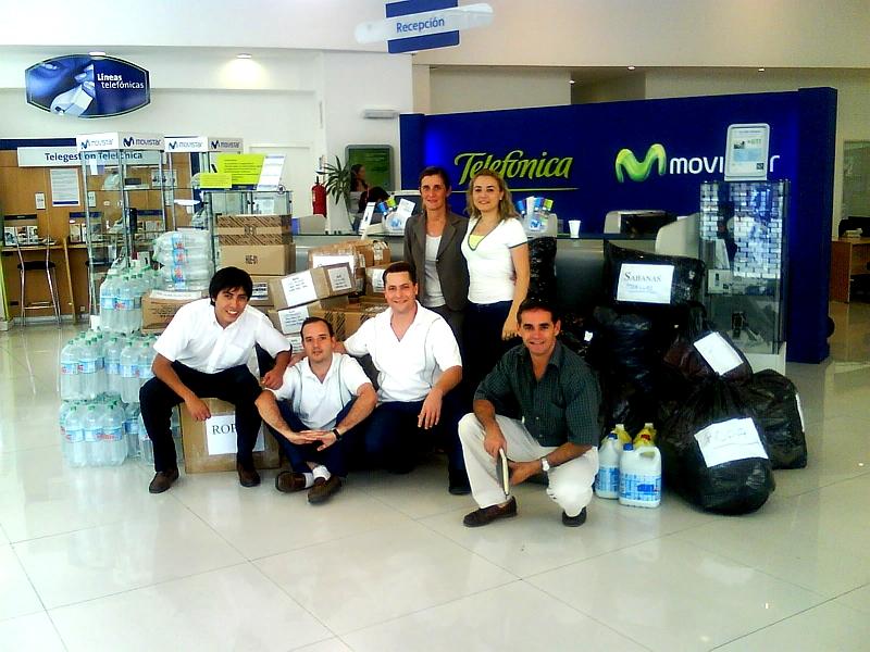 Voluntarios Telefónica contribuyen con una campaña nacional para los damnificados por la catástrofe de Tartagal