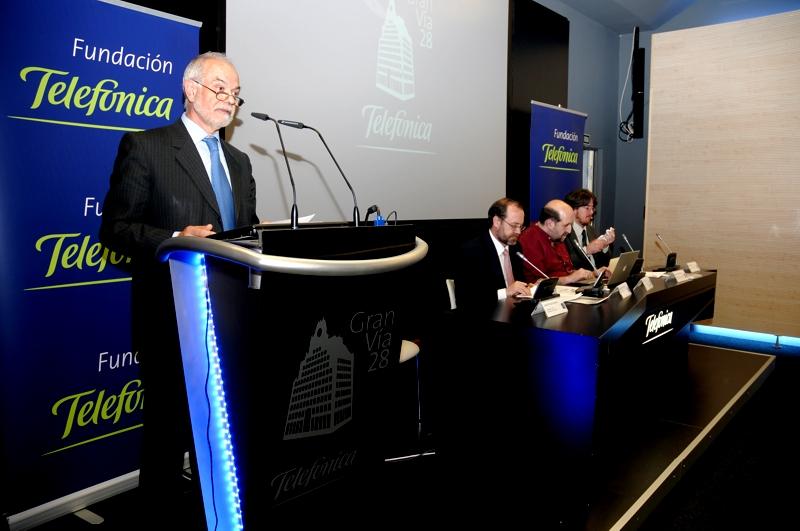Javier Nadal, vicepresidente ejecutivo de Fundación Telefónica, durante su intervención.
