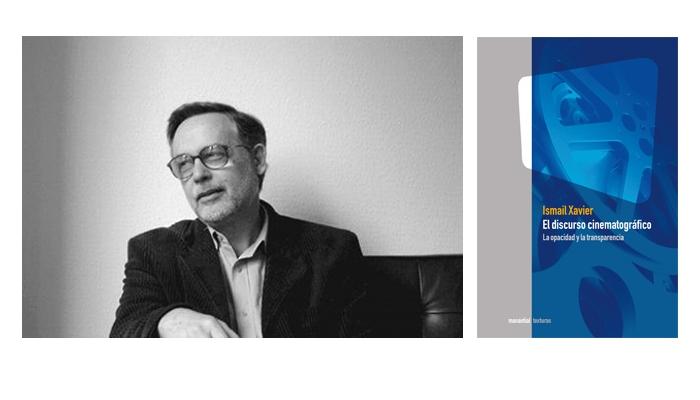 El autor del libro, Ismail Xavier y portada del mismo