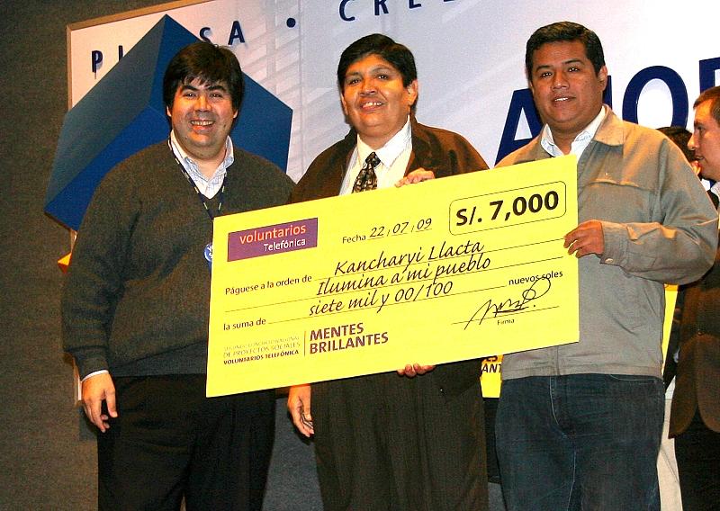 Premiación Kancharyi Llacta 2. Mario Corona