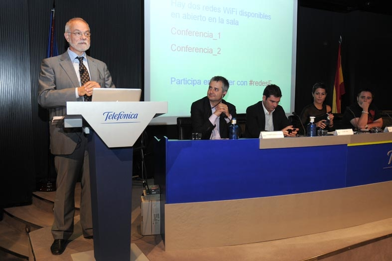 Javier Nadal, Vicepresidente Ejcutivo de Fundación Telefónica, durante su intervención.
