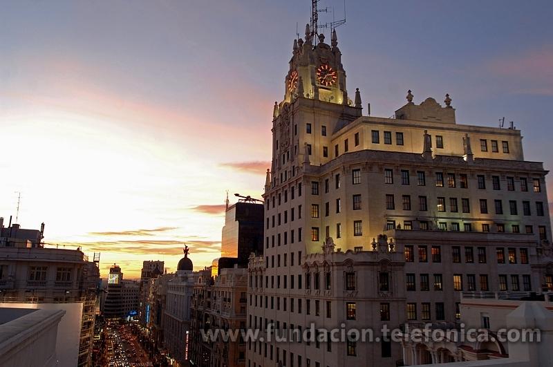 Imagen de la sede Fundación Telefónica en la Gran Vía madrileña