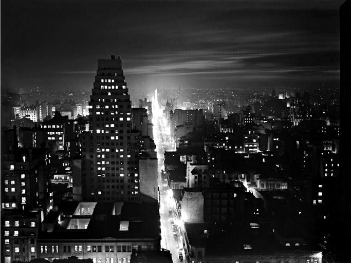 Nocturno, Calle Corrientes desde Reconquista; 1936