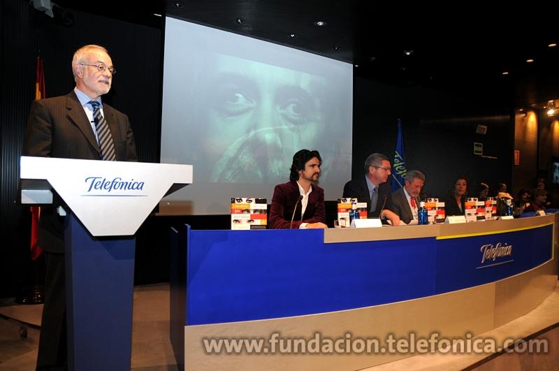 Javier Nadal, vicepresidente ejecutivo de Fundación Telefónica, durante su discurso de bienvenida al acto