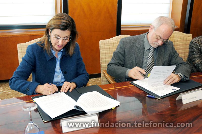 Javier Nadal, Vicepresidente Ejecutivo de Fundación Telefónica y Mónica Oriol, Presidenta de Secot