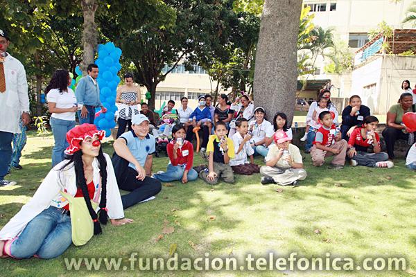 En los jardines del Hospital San Juan de Dios, Fundación Telefónica celebró el