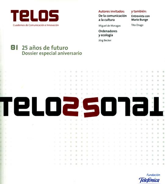 Portada del último número, de carácter conmemorativo, de la revista TELOS