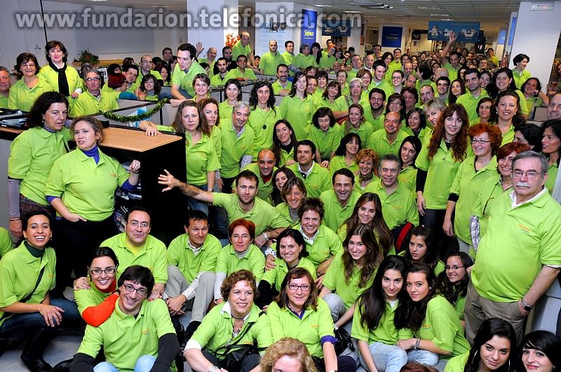 Cada año aumenta el número de Voluntarios Telefónica que participan en la Gala Inocente Inocente