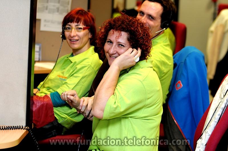 Fundación Telefónica colabora desde hace 6 años en la Gala Inocente a través de sus Voluntarios Telefónica