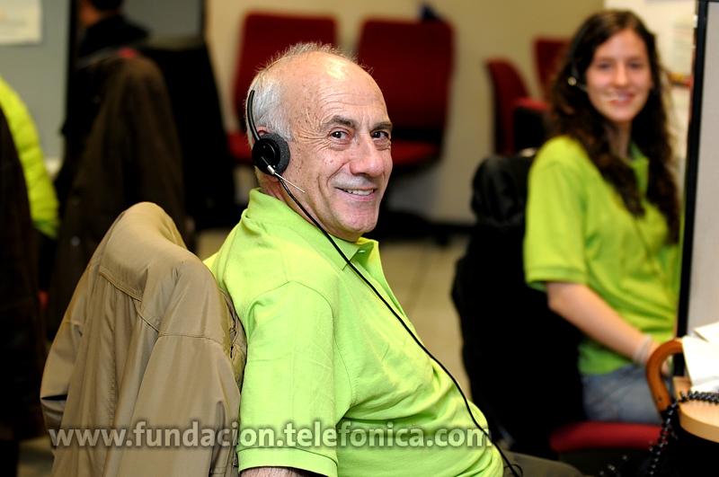 A la Gala acudieron Voluntarios Telefónica de todas las edades, desde los más mayores a los más jóvenes