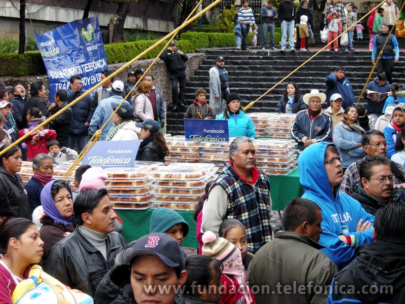 Aspecto general del evento con los habitantes de la Delegación Cuajimalpa.