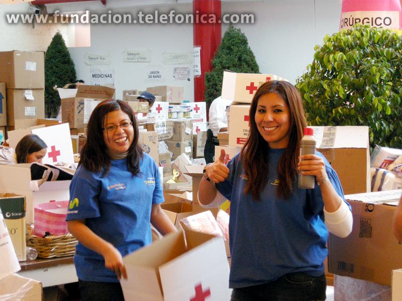 Fundación Telefónica a través del grupo de Voluntarios Telefónica apoyaron a Haití.