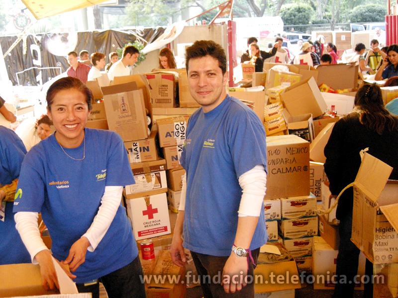 El trabajo de los Voluntarios se sumó al de los más de 13 000 voluntarios que colaboraron en la Cruz Roja.
