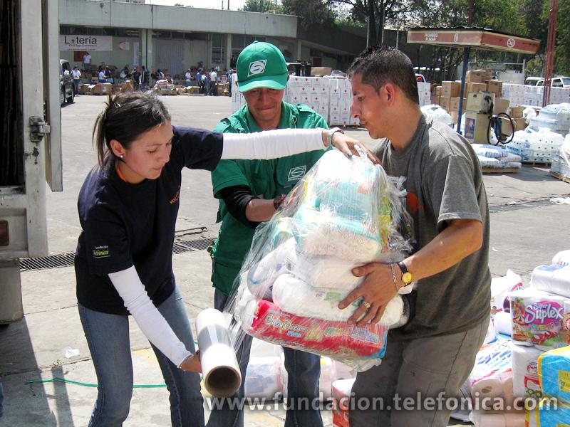 Los Voluntarios Telefónica de Latinoamérica prestan también su apoyo a Haití