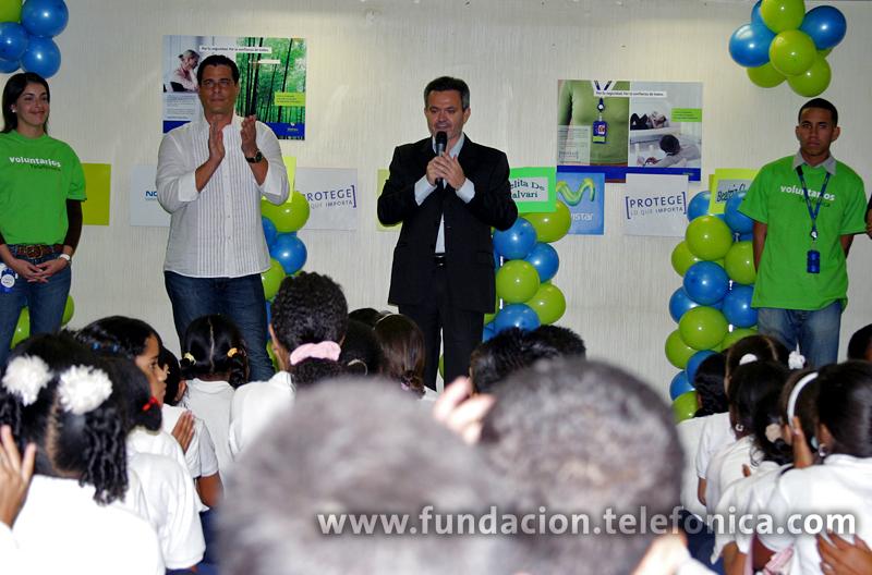 El presidente de Telefónica Venezuela, Juan Antonio Abellán al darles la bienvenida les informó que en nuestro país ya suman más de 15 mil los estudiantes que participan en el Programa Pronito.