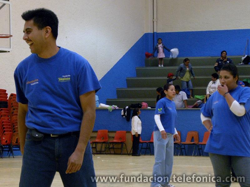 Los voluntarios se enfrentaron en un torneo amistoso con el grupo Morelos, de la 3ª. Edad.