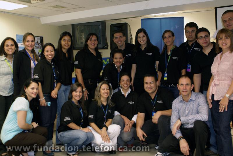 """Más de un centenar de voluntarios Telefónica participaron en el programa """"Un sueño, una realidad"""" de Fundación Telefónica Venezuela."""