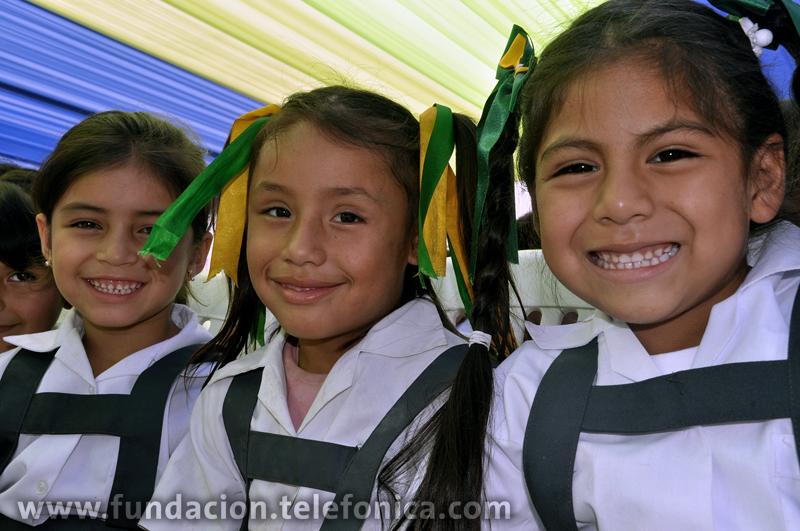Telefónica inauguró el año escolar de su programa Proniño, iniciativa que busca la erradicación de la explotación laboral infantil a través de una educación de calidad.