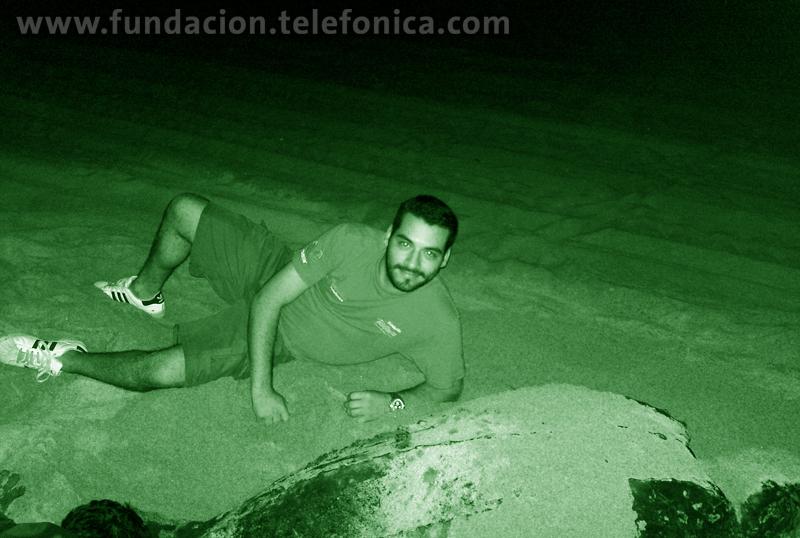 Uno de los 3 arribos de tortuga Laúd al Playón Palmarito en el 2010.