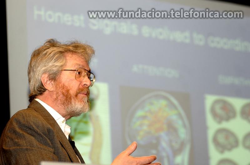 El profesor Alex Pentland, en un momento de su intervención.