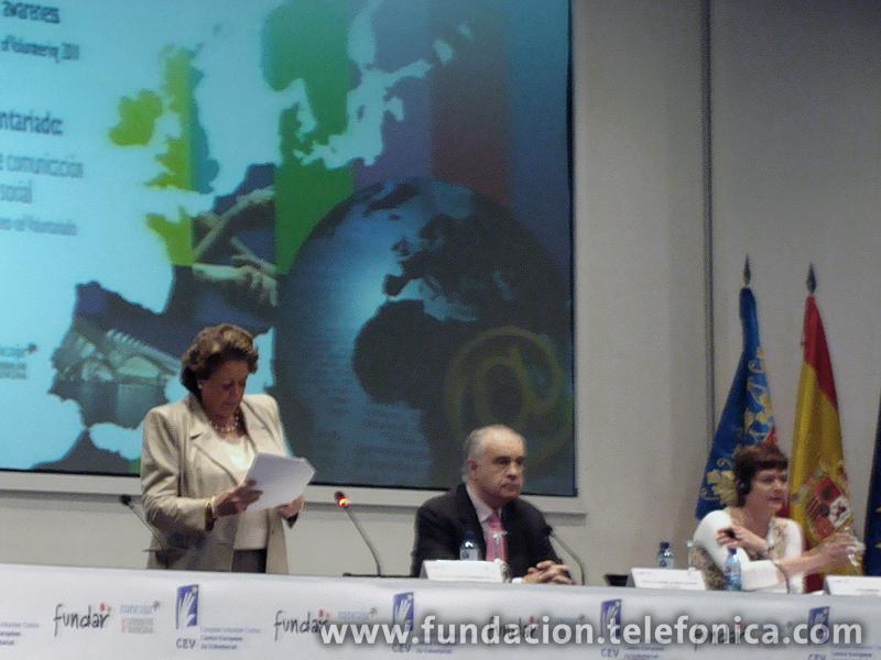 Rita Barberá inauguró el Congreso Europeo de Voluntariado.