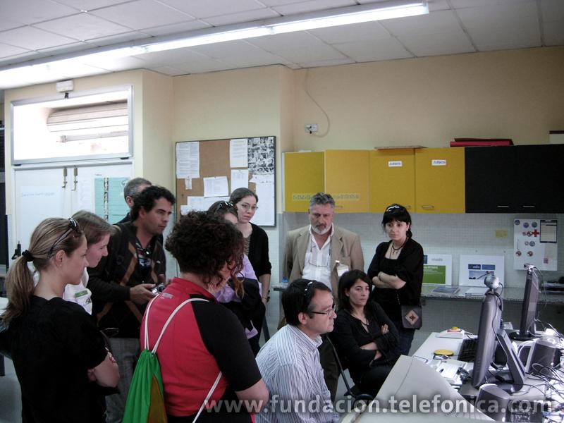 Un grupo de participantes en el Congreso visitan Retadis en Valencia.