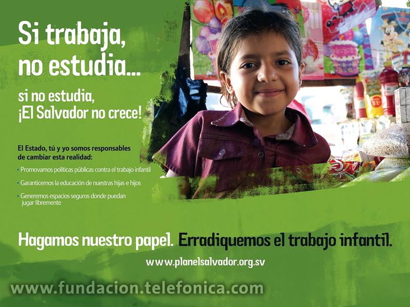 Fundación Telefónica se une a la campaña de Sensibilización contre el trabajo infantil.