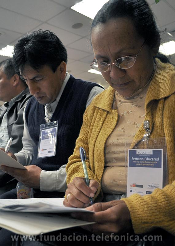 Capacitación que busca mejorar la calidad educativa del país estuvo a cargo de la Fundación Telefónica, con el apoyo del Banco de Crédito BCP, la Fundación BBVA Banco Continental, el Grupo Santillana y el Ministerio de Educación.