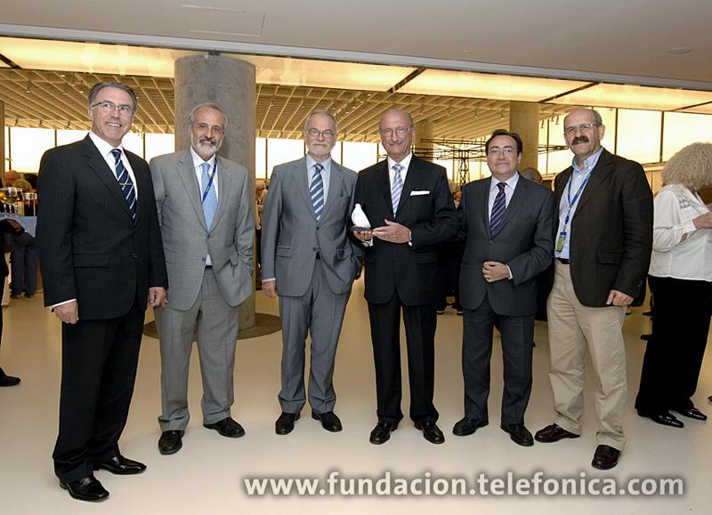 De izda. A dcha.: Santiago González, Óscar Maraver, Javier Nadal, Luis Álvarez,José Félix Dones y Javier Clemente.
