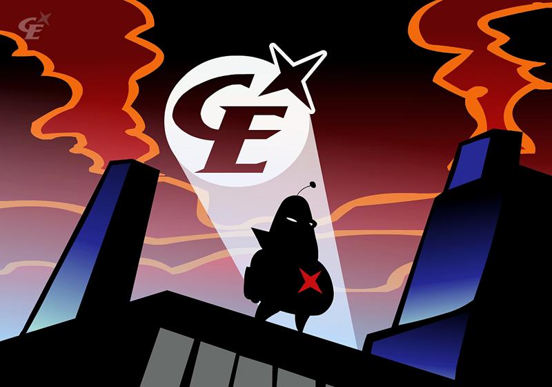 Cálico Electrónico. Personaje estrella de la serie online homónima que se ha convertido en el emblema de Nikodemo.