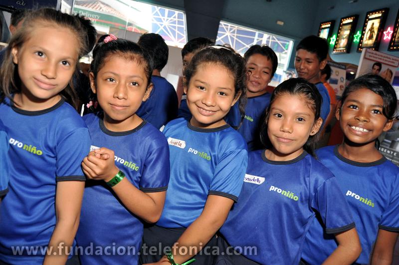 Proniño de Telefónica celebra el Día Internacional del Niño en Managua.