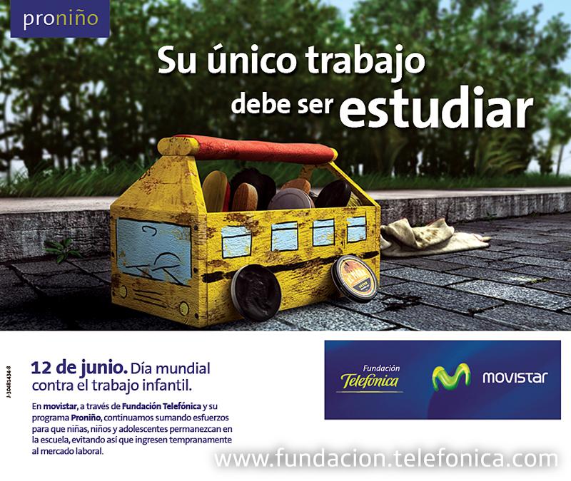 Imagen oficial de la campaña del Día mundial contra el trabajo infantil.