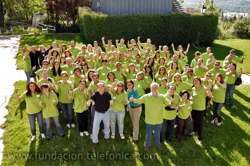 Empleados voluntarios de Telefónica donan sus vacaciones para proyectos de cooperación