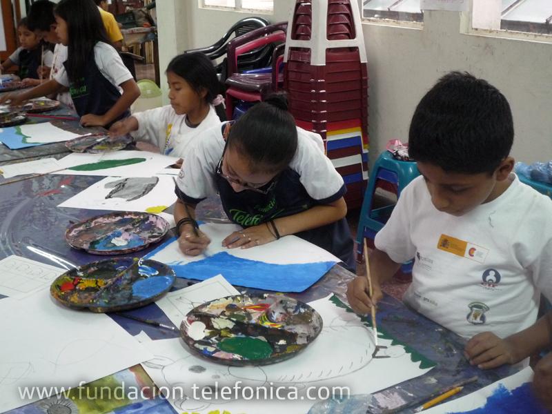 El desarrollo de talleres de arte es una acción más que realiza Proniño en el marco de la promoción de los derechos del niño: derecho a la educación, derecho a la libre expresión y derecho a la recreación.