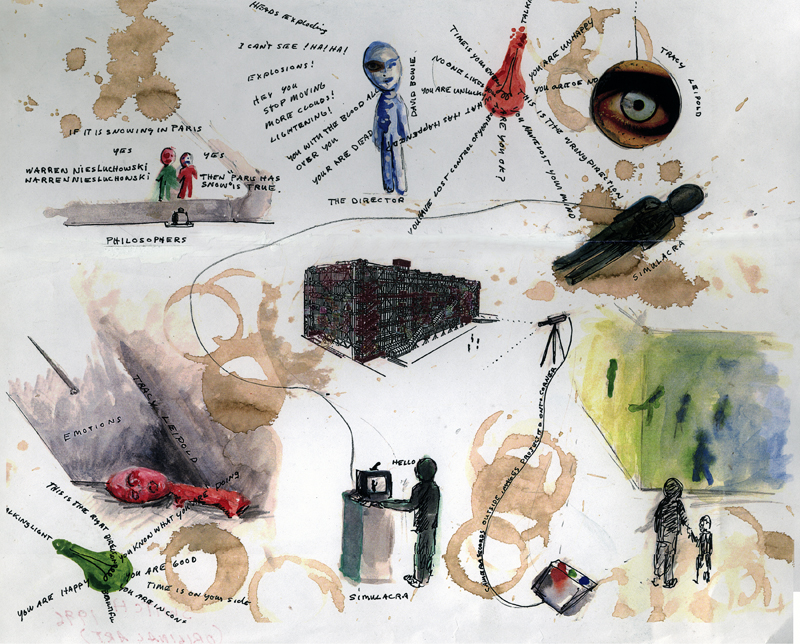 Pasado & Presente Colección Nuevos Medios Centro Pompidou, Con obras de Vito Acconci, Mik Aernout, Thierry Kuntzel, Chris Marker, Bruce Nauman, June Paik, Zineb sedira y Tony Oursler