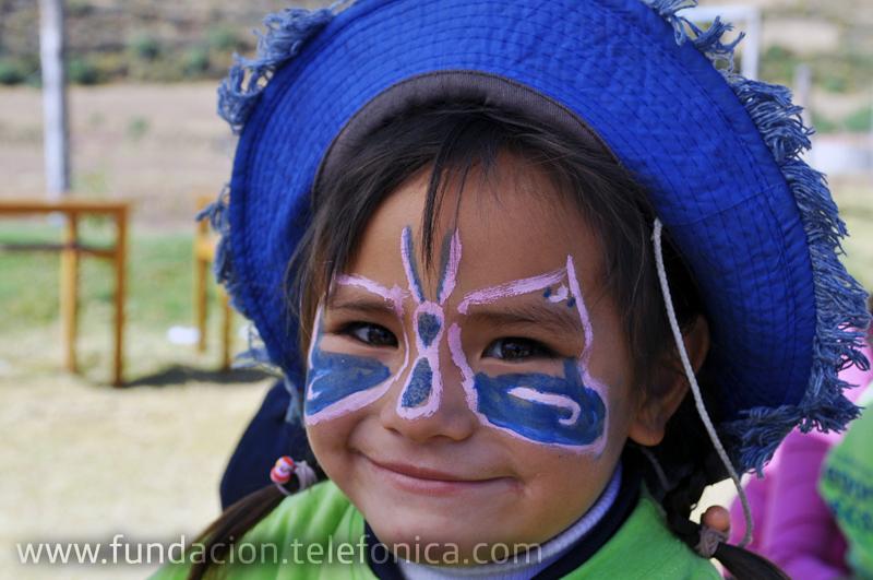"""Alumnos de inicial de la red rural Fe y Alegría 44 en Andahuaylillas participaron del Festival Deportivo """"Fundación Telefónica"""" con actividades lúdico-educativas."""