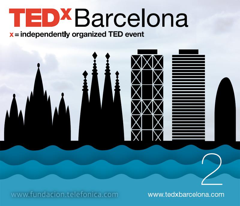 TED x Barcelona. Organización del evento TED X, en colaboración con Infonomía.