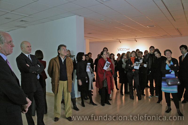 """Inauguración de la exposición """"Video XXI. Colección Lemaître"""" en el Centro Fundación Telefónica."""