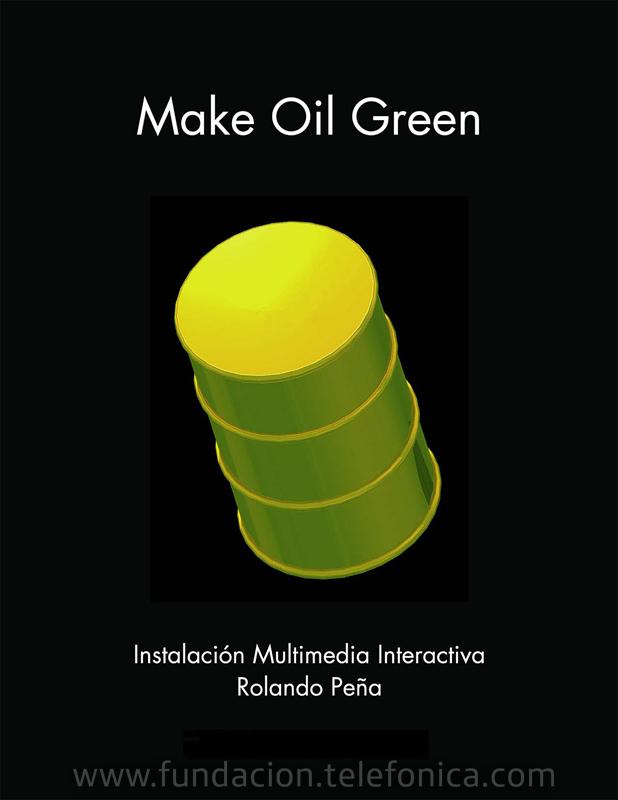 Fundación Telefónica patrocina exposición Petróleo Verde de Rolando Peña