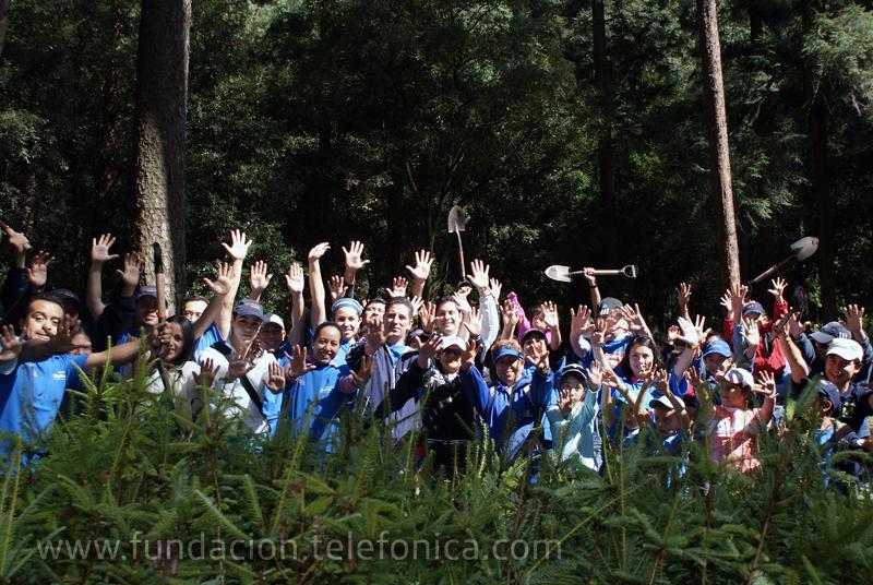 Con estas acciones el Grupo Telefónica refrenda su compromiso con el medio ambiente y refleja el espíritu de colaboración de quienes lo integran.