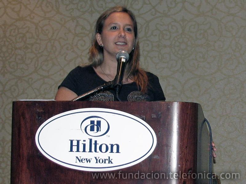 Lucila Ballarino, representante de Telefónica en la asamblea del Consejo Global de Voluntariado Corporativo celebrado en junio en NYC.