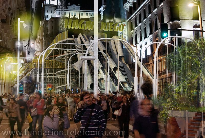 Fundación Telefónica participa en la quinta edición de La Noche en Blanco de Madrid con el proyecto Gran Vía / Gran Obra.