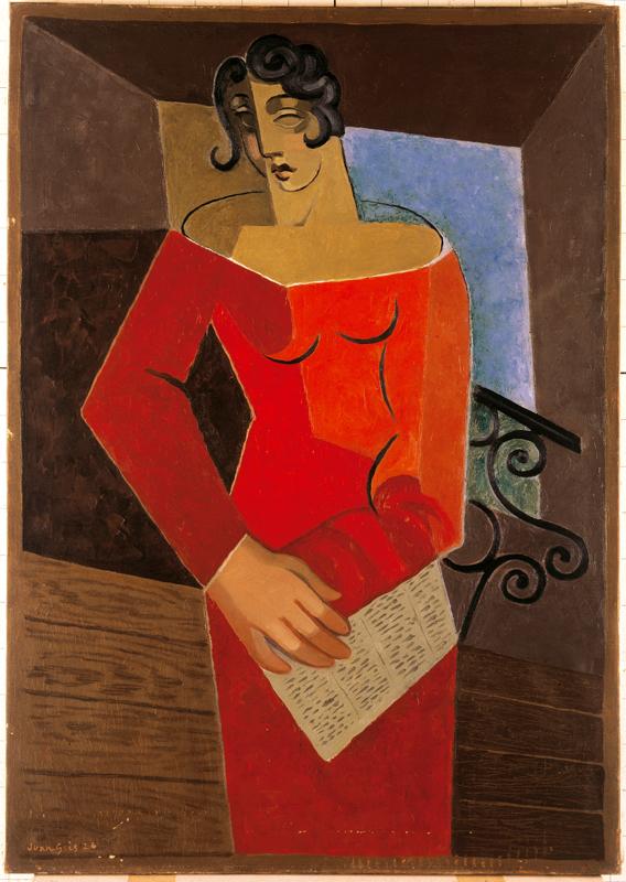 Juan Gris, La chanteuse (1926).
