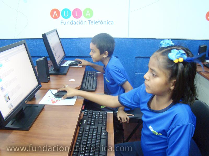 Proniño de Fundación Telefónica inaugura nuevas Aulas Fundación Telefónica en Nicaragua.