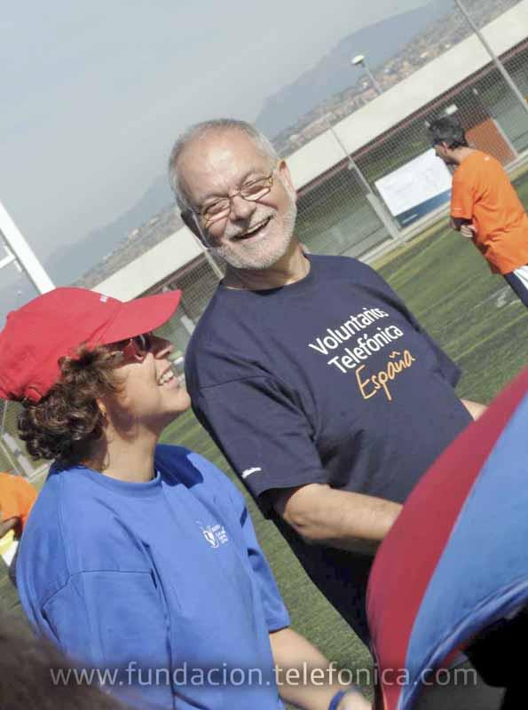 Javier Nadal, Vicepresidente Ejecutivo de Fundación Telefónica, disfrutó de la jornada acompañando a personas con discapacidad.