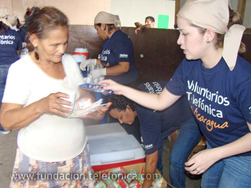 """La campaña  formó parte del """"Día Internacional del Voluntario Telefónica"""" que impulsa  la compañía a nivel mundial."""