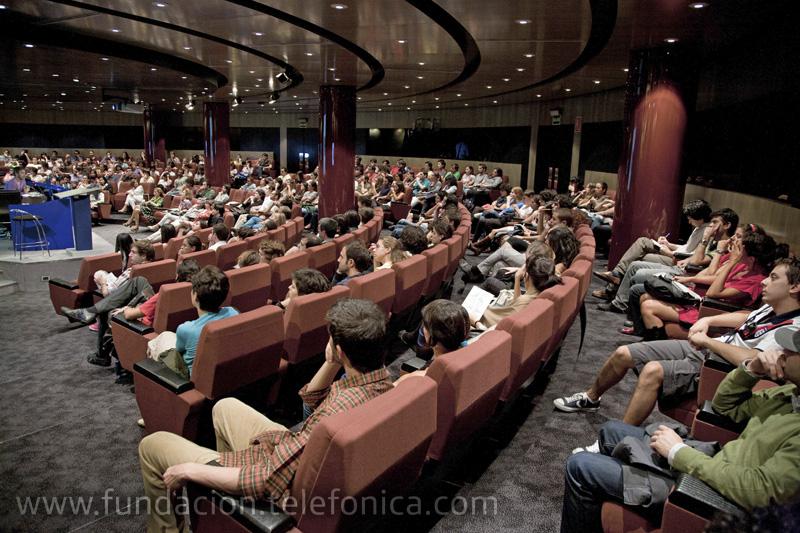 Vista del auditorio de Fundación Telefónica.