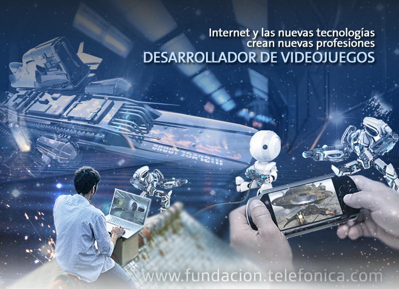 """Desarrollador de videojuegos. Ciclo """"Internet y las nuevas tecnologías crean nuevas profesiones""""."""