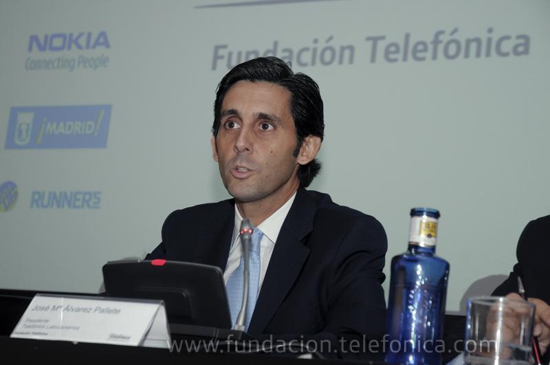 José María Álvarez-Pallete, presidente de Telefónica LATAM, en su intervención durante el acto.